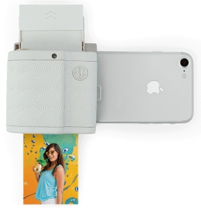 Prynt Pocket for iPhone | Mobile Photo Printer White + Prynt Zink Sticker Paper 120 Pack | iPhone Xs