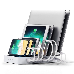 SATECHI 7-PORT Charging Station with 2 x type-C ports White | iPad