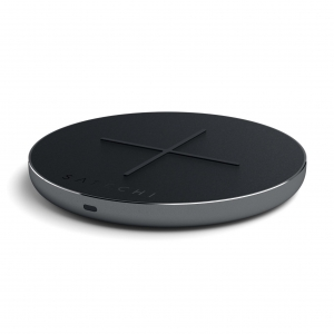 SATECHI Aluminum Type-C PD & QC Wireless Charger Space Gray
