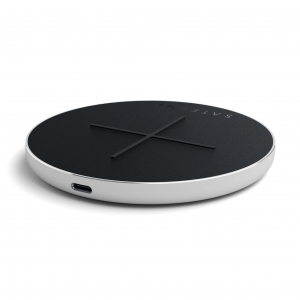 SATECHI Aluminum Type-C PD & QC Wireless Charger Silver