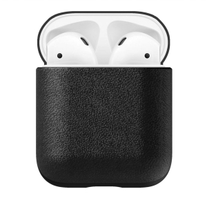 NOMAD Rugged Case for AirPods Black Leather