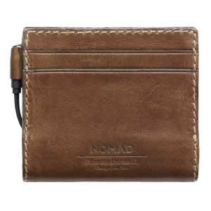NOMAD Leather Charging Wallet 2400mAh Lightning | Rustic Brown