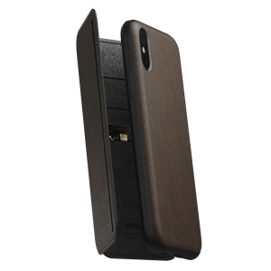 NOMAD Rugged Tri-Folio Rustic Brown | iPhone Xr