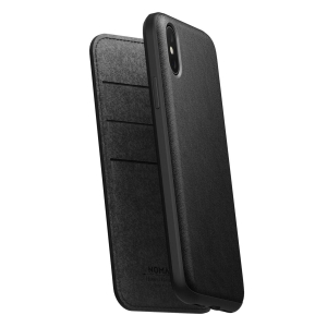 NOMAD Folio Leather Rugged Black | iPhone Xs