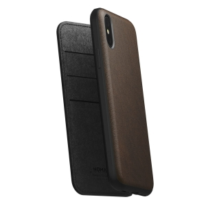 NOMAD Folio Leather Rugged Rustic Brown | iPhone Xs Max
