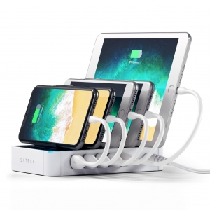 SATECHI 5-PORT Charging Station White | iPad
