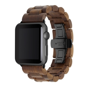 WOODCESSORIES EcoStrap Apple Watch Band 42mm / 44mm Walnut Black
