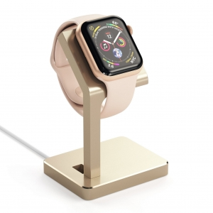 SATECHI ALUMINUM WATCH SERIES 4 CHARGING STAND | Gold