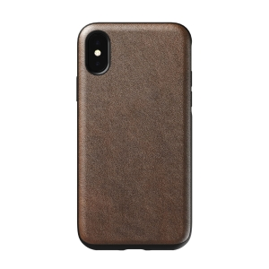 NOMAD Case Leather Rugged Rustic Brown | iPhone Xs