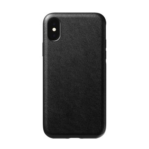 NOMAD Case Leather Rugged Black | iPhone Xs