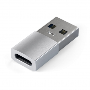 SATECHI TYPE-A TO TYPE-C ADAPTER | Silver