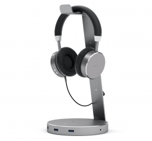 SATECHI ALUMINUM USB 3.0 HEADPHONE STAND | Space Gray