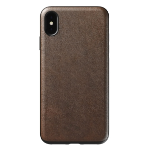 NOMAD Case Leather Rugged Rustic Brown | iPhone Xr