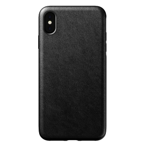 NOMAD Case Leather Rugged Black | iPhone Xr