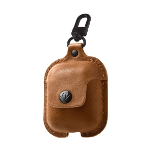 TWELVE SOUTH AirSnap for AirPods | Cognac leather
