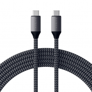 SATECHI USB-C TO USB-C 100W CHARGING CABLE 2m | Space Gray