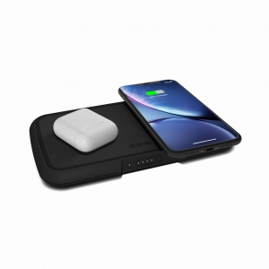 ZENS Dual Wireless Charger + Powerbank | Black