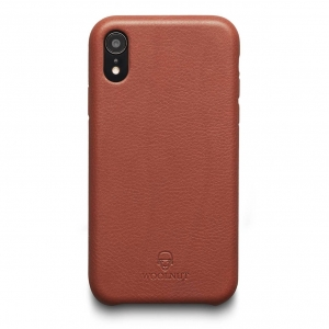 WOOLNUT Leather Case Cognac Brown | iPhone Xr