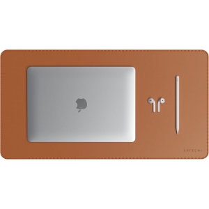 SATECHI Leather Desk Mat | Brown
