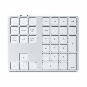 SATECHI Extended Wireless Keypad | Silver