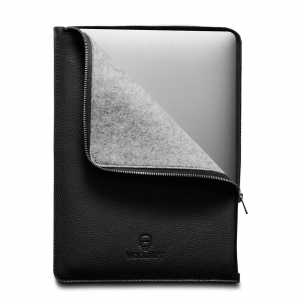 WOOLNUT Leather Folio Black | MacBook Pro 13""