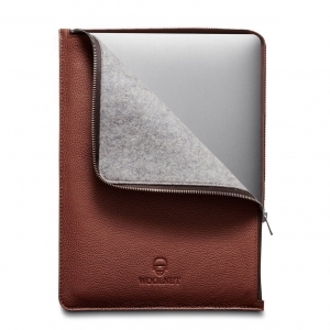 WOOLNUT Leather Folio Cognac Brown | MacBook Pro 13""