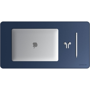 SATECHI Leather Desk Mat | Blue