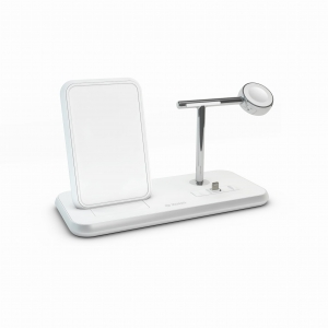 ZENS Stand + Dock + Watch Fast Wireless Charger | White