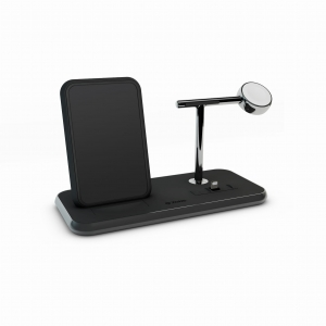 ZENS Stand + Dock + Watch Fast Wireless Charger | Black
