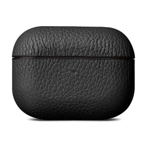 WOOLNUT Leather Case Black for AirPods Pro