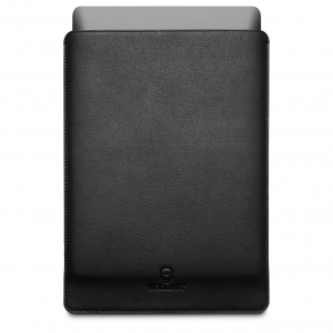 WOOLNUT Leather Sleeve Black | MacBook Pro 16""