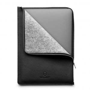 WOOLNUT Leather Folio Black | MacBook Pro 16""