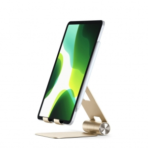 SATECHI R1 ALUMINUM HINGE HOLDER FOLDABLE STAND Gold