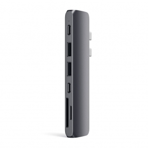 SATECHI Aluminum Type-C Pro Hub Adapter Thunderbolt Space Gray | MacBook Pro M1