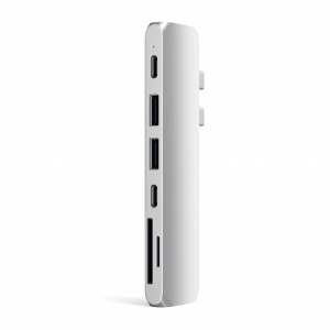 SATECHI Aluminum Type-C Pro Hub Adapter Thunderbolt Silver | MacBook Pro M1