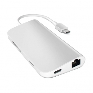 SATECHI Type-C Multi-Port Adapter 4K With Ethernet Silver | MacBook M1