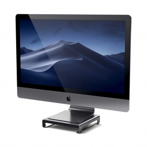 SATECHI TYPE-C ALUMINUM MONITOR STAND HUB Space Gray | iMac