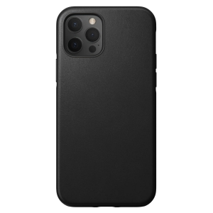 NOMAD Case Leather Rugged Black | iPhone 12 / 12 Pro