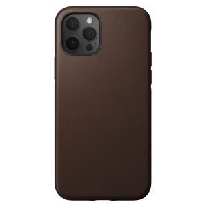 NOMAD Case Leather Rugged Rustic Brown | iPhone 12 / 12 Pro