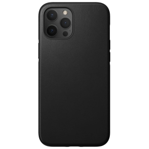 NOMAD Case Leather Rugged Black | iPhone 12 Pro Max
