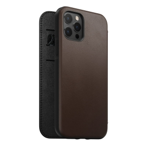NOMAD Folio Leather Rugged Rustic Brown | iPhone 12 / 12 Pro