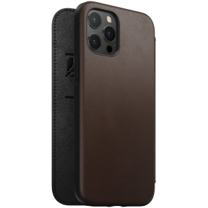 NOMAD Folio Leather Rugged Rustic Brown | iPhone 12 Pro Max