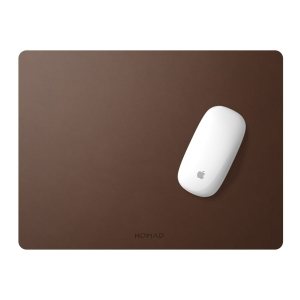 NOMAD Mousepad Horween Leather Rustic Brown 16-inch