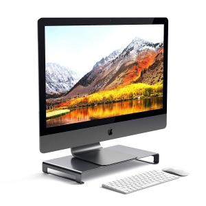 SATECHI ALUMINUM MONITOR STAND Space Gray | iMac