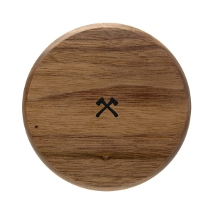WOODCESSORIES EcoPad Premium Wooden Wireless Charger Walnut