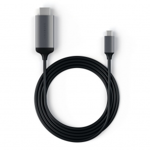 SATECHI ALUMINUM CABLE 4K 60HZ 1.8 m | USB-C - HDMI | Space Gray