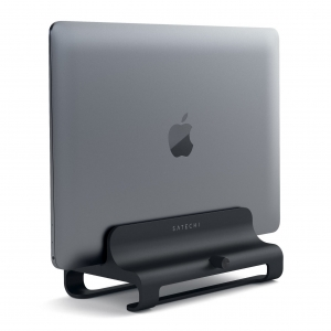 SATECHI VERTICAL ALUMINUM MACBOOK STAND | Jet Black Limited