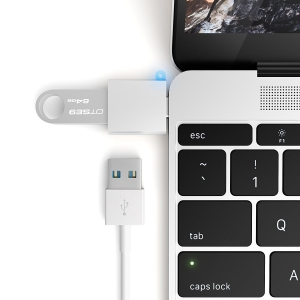 SATECHI ADAPTER USB-C USB Silver | MacBook