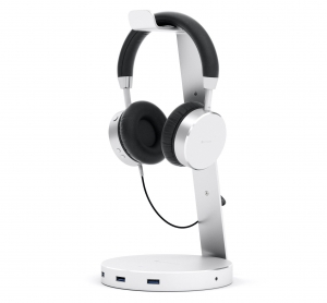 SATECHI ALUMINUM USB 3.0 HEADPHONE STAND | Silver