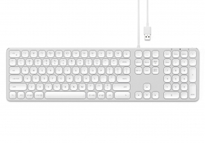 SATECHI ALUMINUM WIRED USB KEYBOARD Silver | iMac